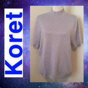 Koret Purple Sparkly Sweater Top